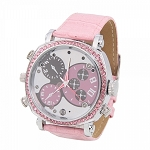 1080P Hidden Camera Watch Ladies Spy Watch Pink Girls