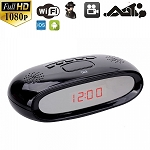 Wi-Fi Alarm Clock Hidden Spy Camera 5MP CMOS Full HD 1080P